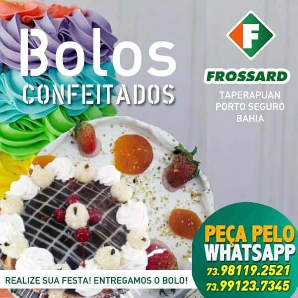 Bolo confeitado festa de aniversário frossard supermercados em Porto Seguro