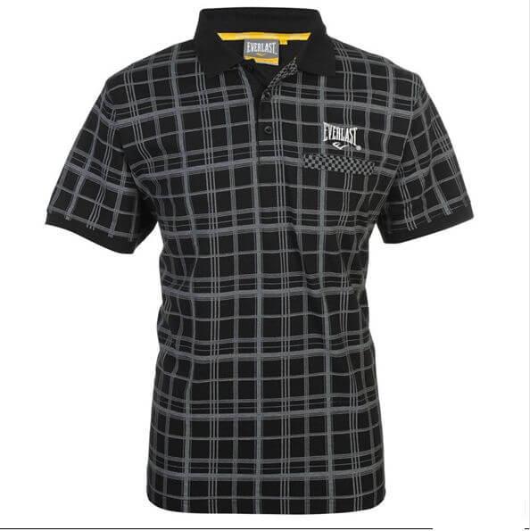 camisa polo everlast cor preta com listras cinzas rifa beneficente para alimentação animais para adoções