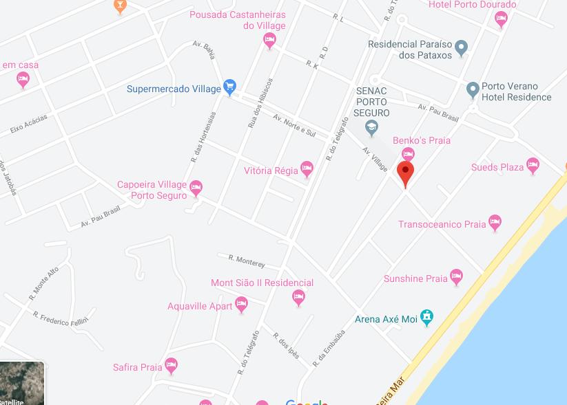 terreno porto seguro google mapa