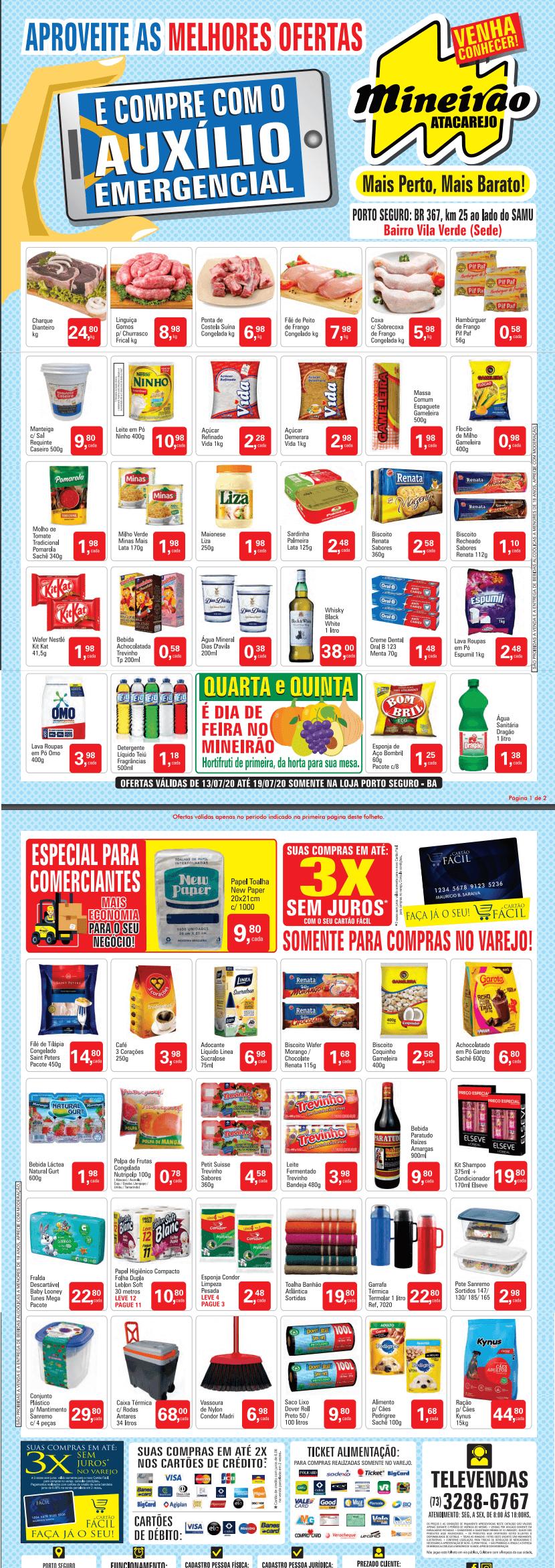mineirao-atacarejo-porto seguro offers from 13/07 to 19/07/2020