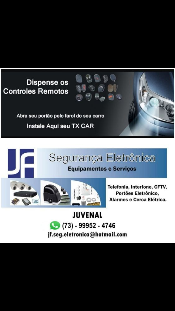 Segurança eletrônica em Porto Seguro, portões, controles remoto, placas