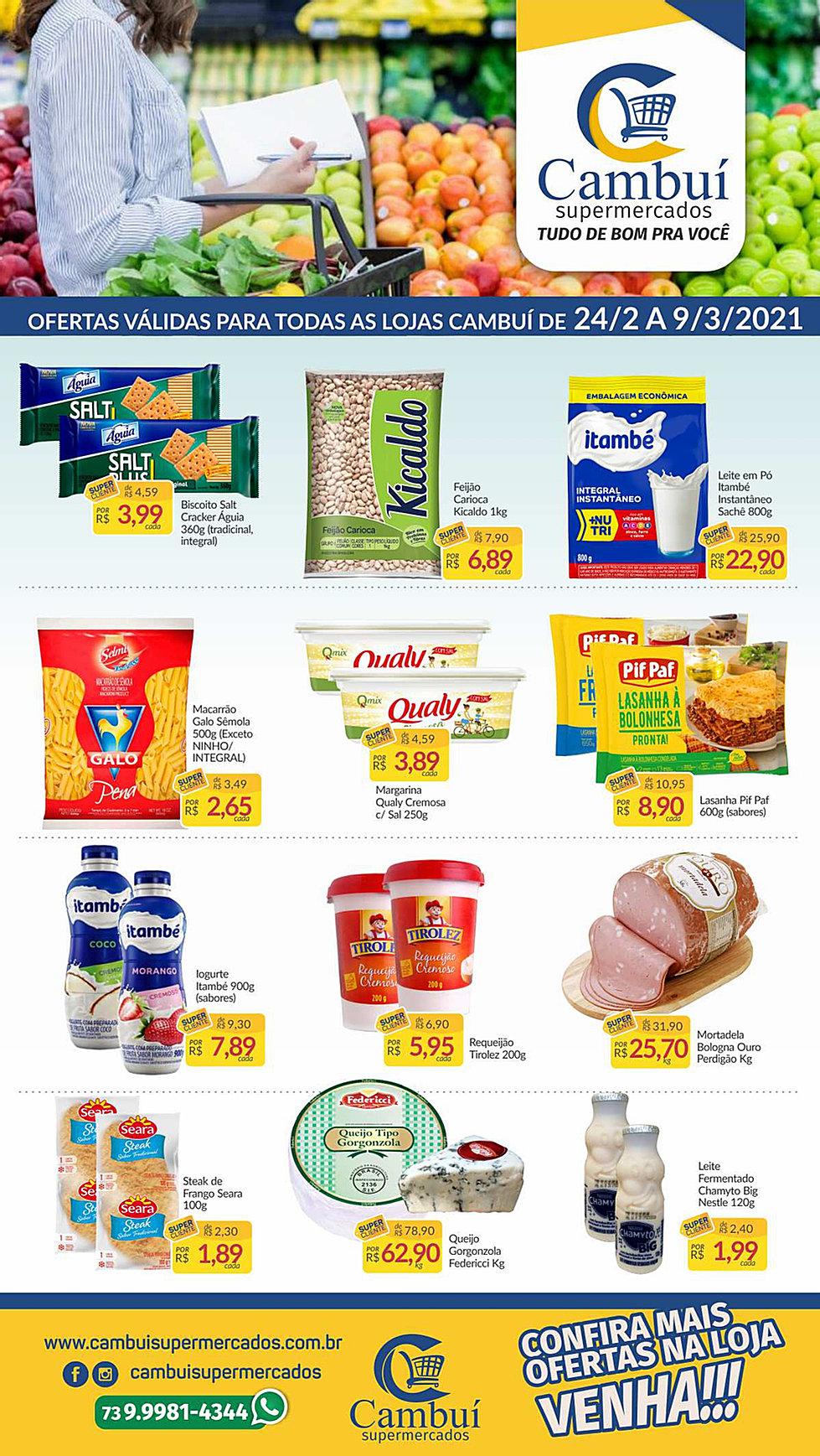 cambui supermercados catalogo de ofertas 24/2 A 09/ 03/2021